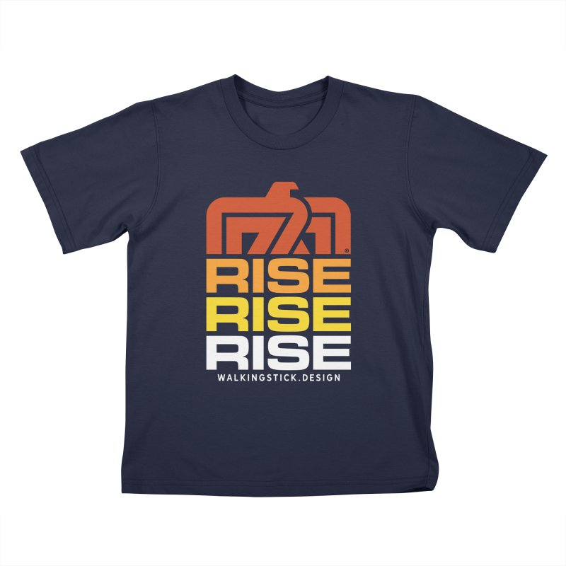 T-BIRD RISE UP + WALKINGSTICK DESIGN CO. Kids T-Shirt by WalkingStick Design's Artist Shop