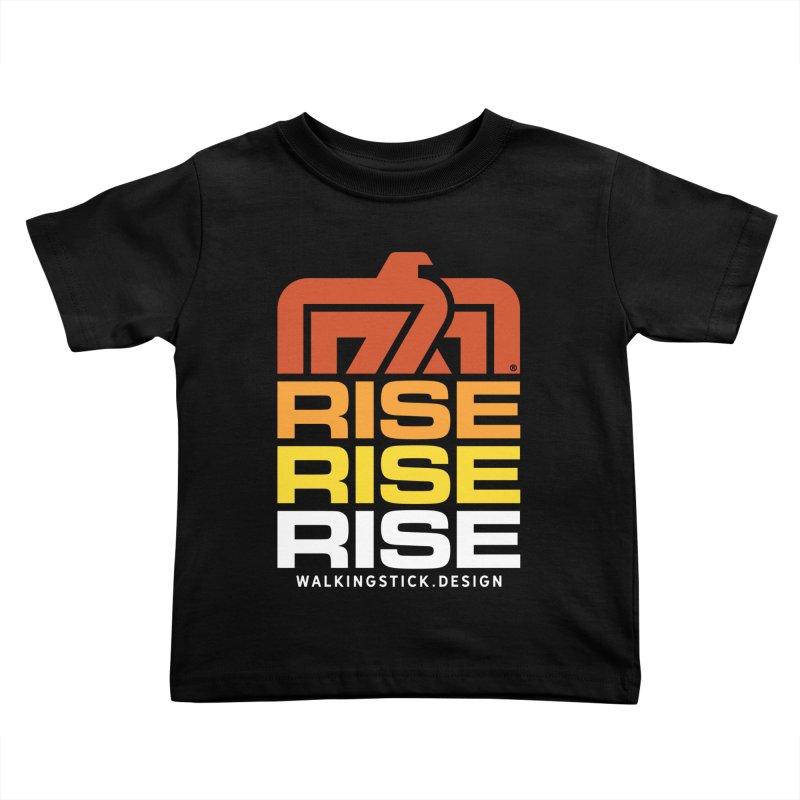 T-BIRD RISE UP + WALKINGSTICK DESIGN CO. Kids Toddler T-Shirt by WalkingStick Design's Artist Shop