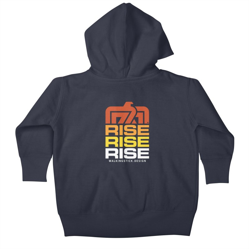 T-BIRD RISE UP + WALKINGSTICK DESIGN CO. Kids Baby Zip-Up Hoody by WalkingStick Design's Artist Shop