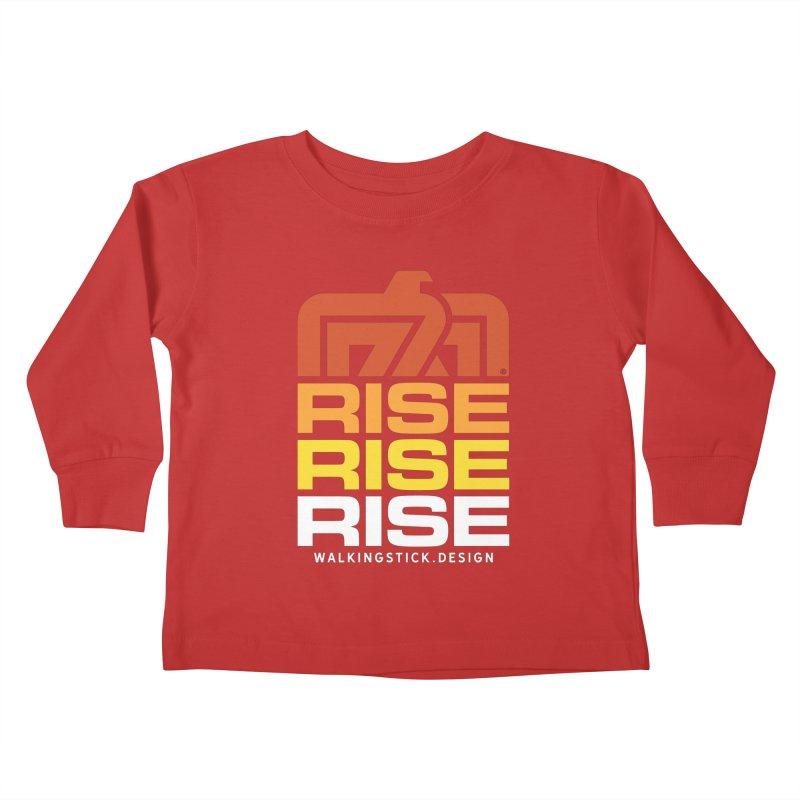 T-BIRD RISE UP + WALKINGSTICK DESIGN CO. Kids Toddler Longsleeve T-Shirt by WalkingStick Design's Artist Shop
