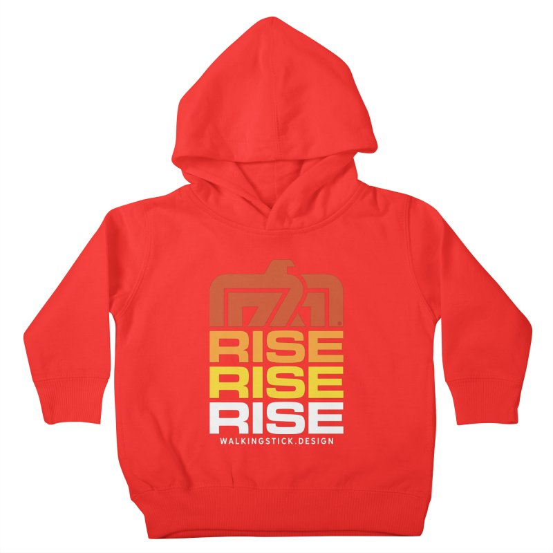 T-BIRD RISE UP + WALKINGSTICK DESIGN CO. Kids Toddler Pullover Hoody by WalkingStick Design's Artist Shop