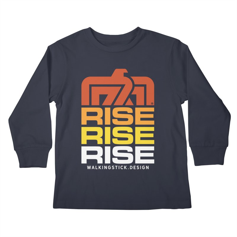T-BIRD RISE UP + WALKINGSTICK DESIGN CO. Kids Longsleeve T-Shirt by WalkingStick Design's Artist Shop
