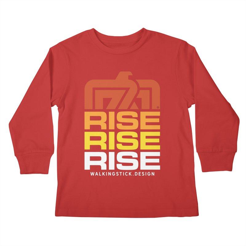 T-BIRD RISE UP + WALKINGSTICK DESIGN CO. Kids Longsleeve T-Shirt by WalkingStick Design's Artist Shop