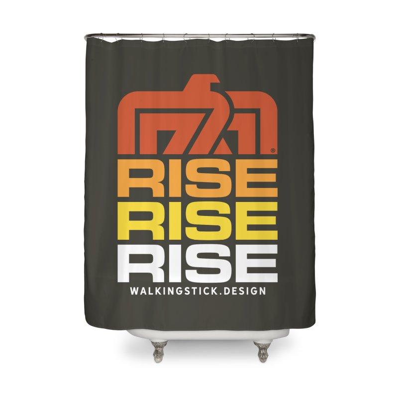 T-BIRD RISE UP + WALKINGSTICK DESIGN CO. Home Shower Curtain by WalkingStick Design's Artist Shop