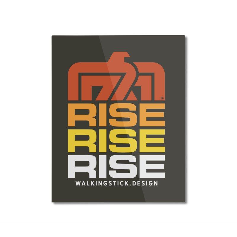 T-BIRD RISE UP + WALKINGSTICK DESIGN CO. Home Mounted Aluminum Print by WalkingStick Design's Artist Shop