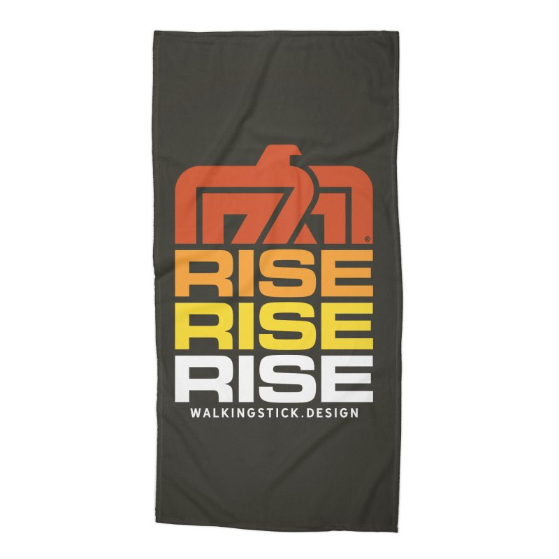 T-BIRD RISE UP + WALKINGSTICK DESIGN CO. Accessories Beach Towel by WalkingStick Design's Artist Shop