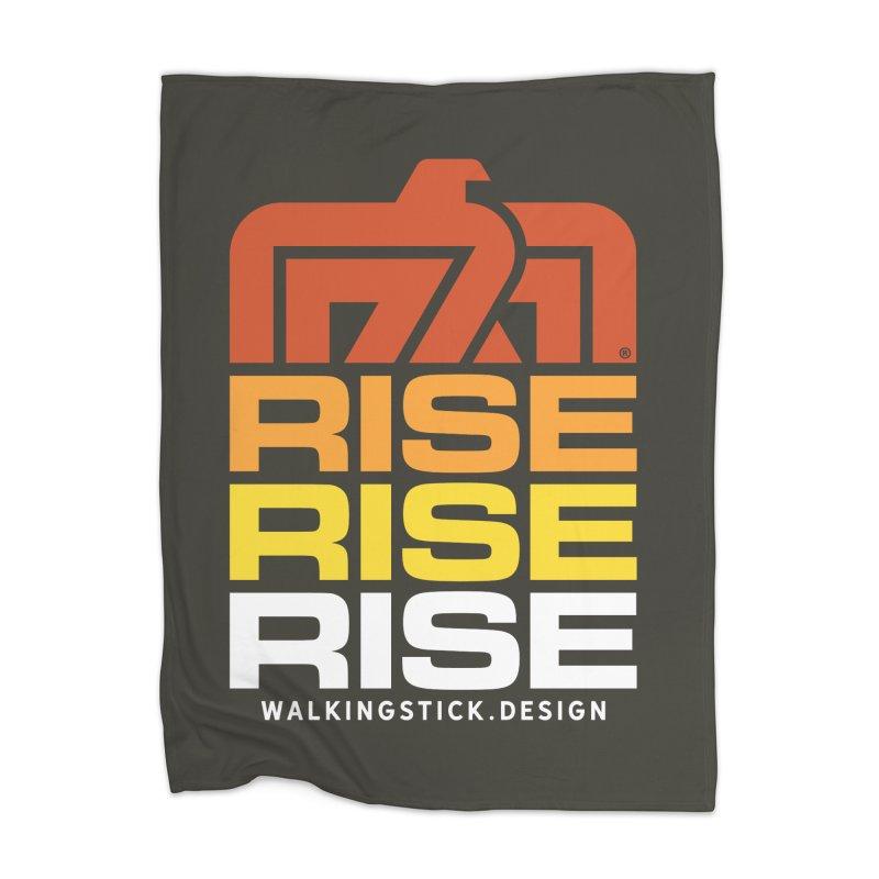 T-BIRD RISE UP + WALKINGSTICK DESIGN CO. Home Blanket by WalkingStick Design's Artist Shop