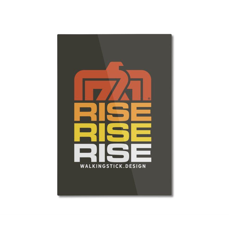 T-BIRD RISE UP + WALKINGSTICK DESIGN CO. Home Mounted Aluminum Print by WalkingStick Design's Artist Shop