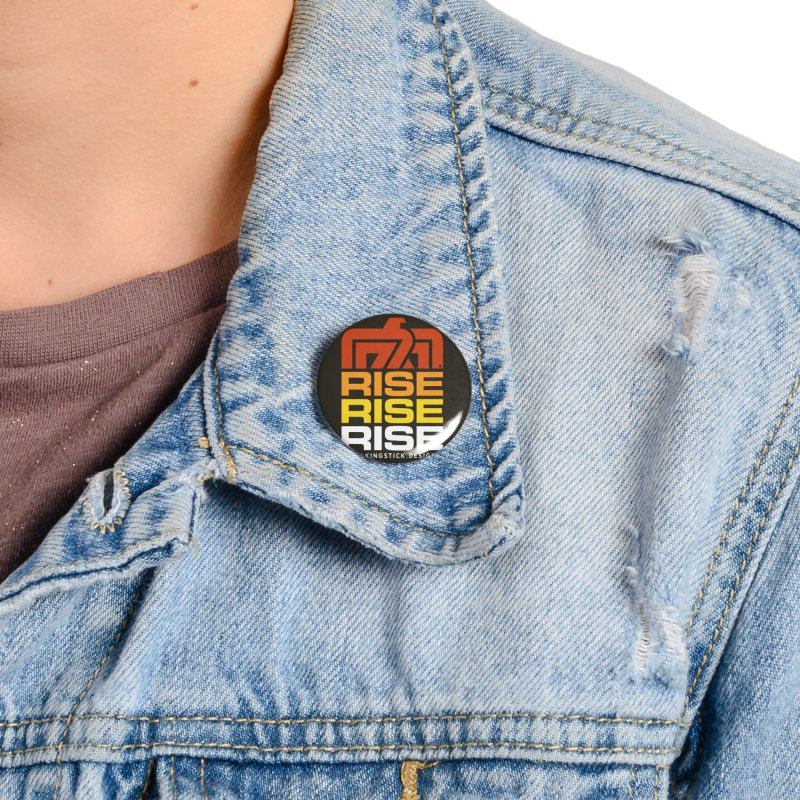 T-BIRD RISE UP + WALKINGSTICK DESIGN CO. Accessories Button by WalkingStick Design's Artist Shop