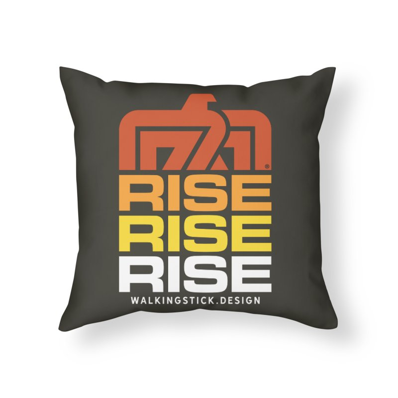 T-BIRD RISE UP + WALKINGSTICK DESIGN CO. Home Throw Pillow by WalkingStick Design's Artist Shop