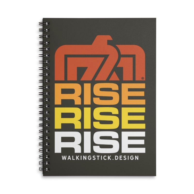 T-BIRD RISE UP + WALKINGSTICK DESIGN CO. Accessories Notebook by WalkingStick Design's Artist Shop