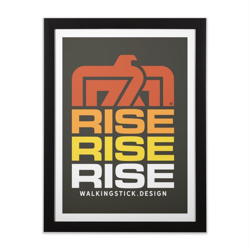 T-BIRD RISE UP + WALKINGSTICK DESIGN CO. Home Framed Fine Art Print by WalkingStick Design's Artist Shop