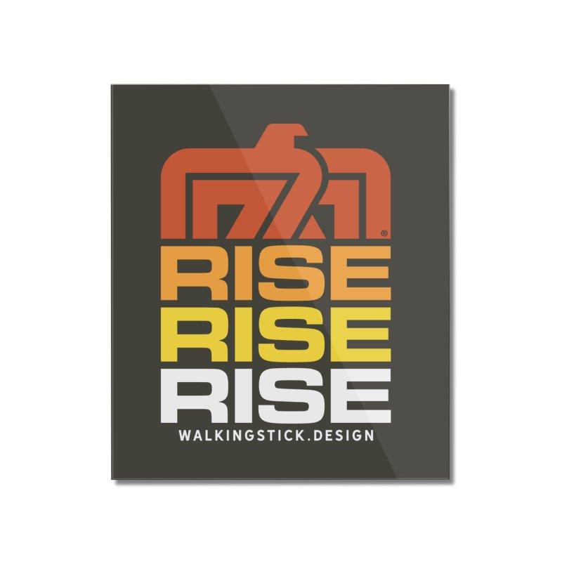 T-BIRD RISE UP + WALKINGSTICK DESIGN CO. Home Mounted Acrylic Print by WalkingStick Design's Artist Shop