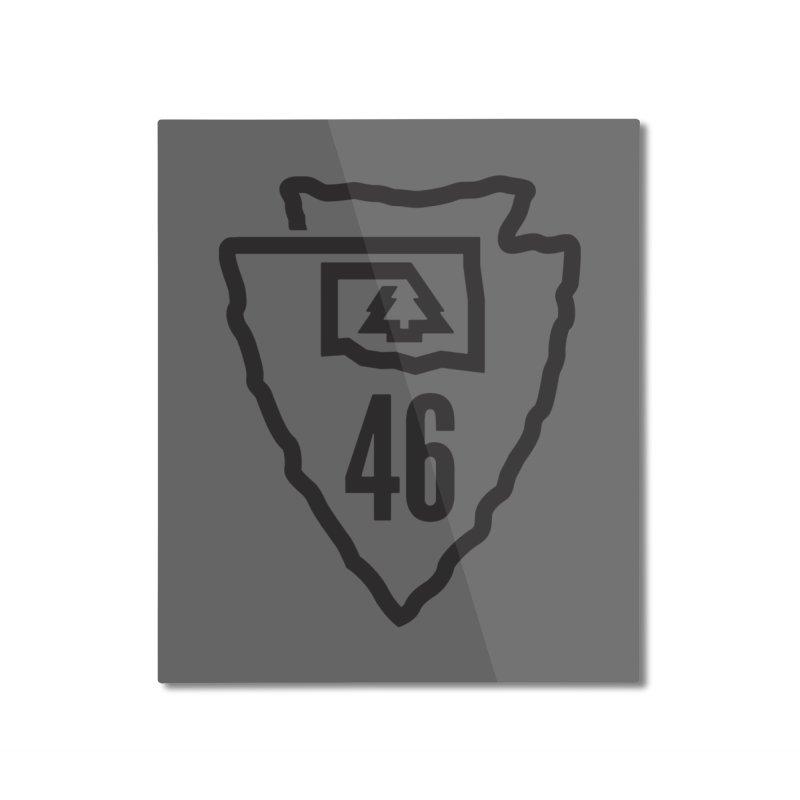 Okla Camp Shirt Home Mounted Aluminum Print by walkingstickdesign's Artist Shop