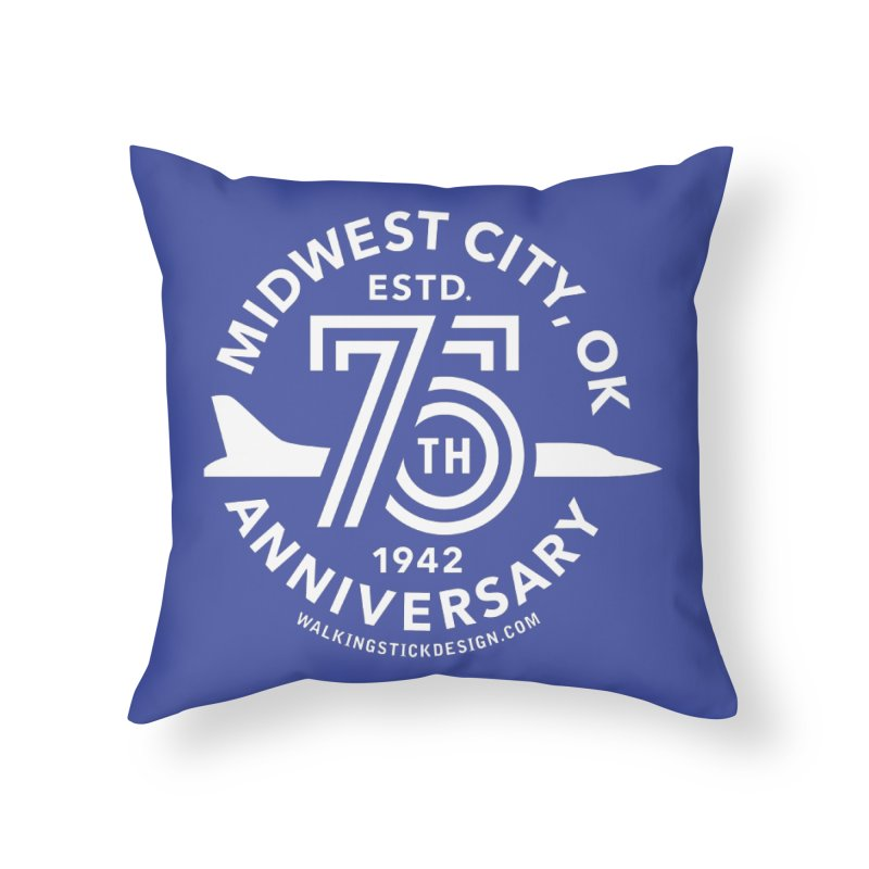 MWC 75 Home Throw Pillow by WalkingStick Design's Artist Shop