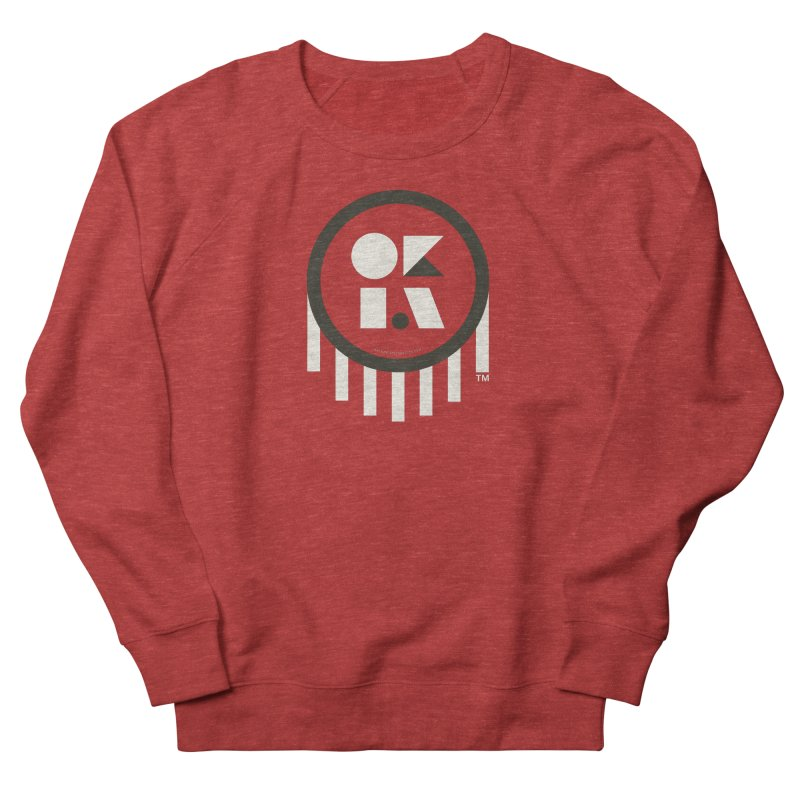 OKLAHOMA SHAPES Women's French Terry Sweatshirt by walkingstickdesign's Artist Shop
