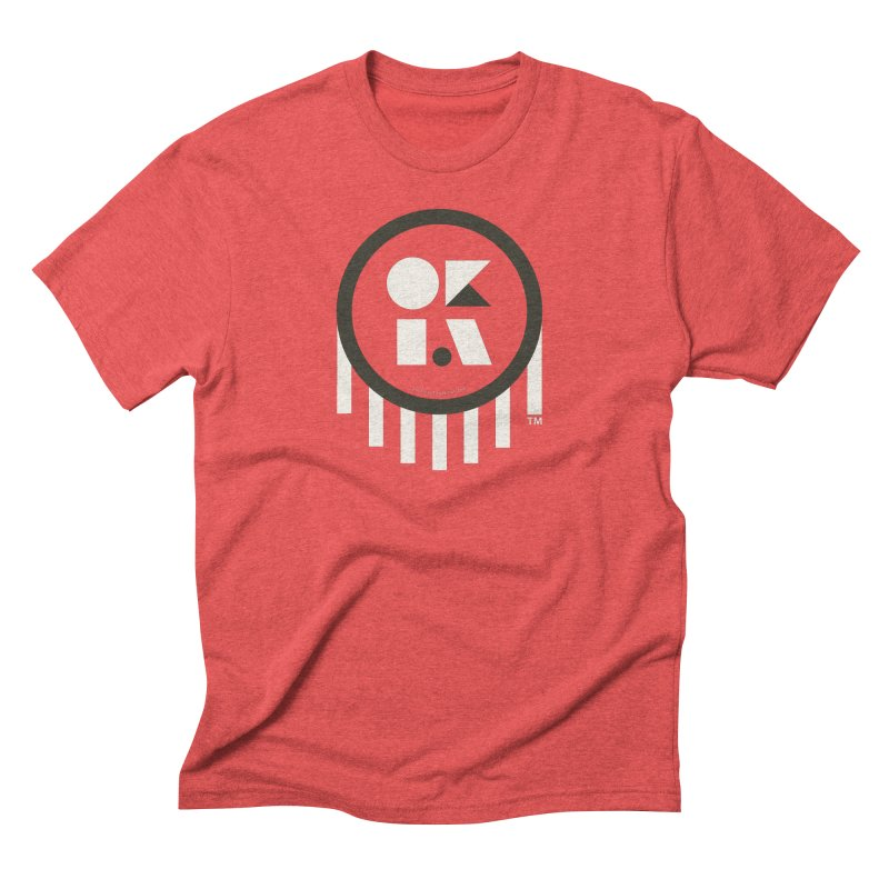 OKLAHOMA SHAPES Men's Triblend T-shirt by walkingstickdesign's Artist Shop