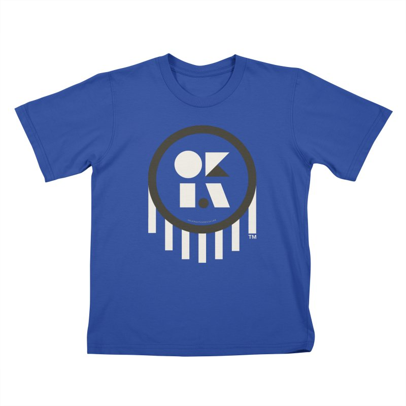 OKLAHOMA SHAPES Kids T-Shirt by walkingstickdesign's Artist Shop