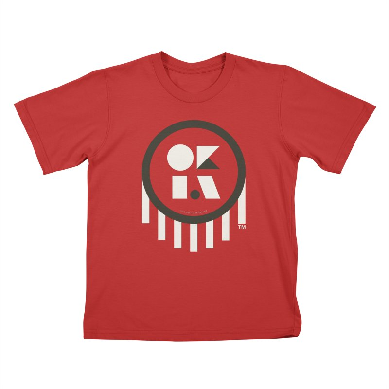 OKLAHOMA SHAPES Kids T-Shirt by walkingstickdesign's Artist Shop