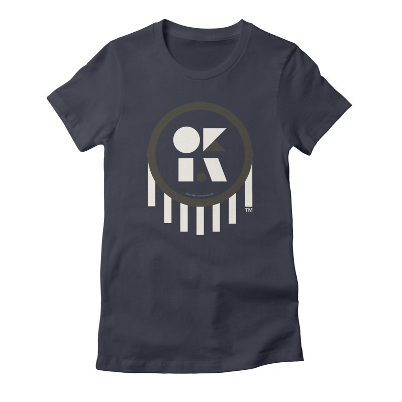OKLAHOMA SHAPES Women's Fitted T-Shirt by walkingstickdesign's Artist Shop