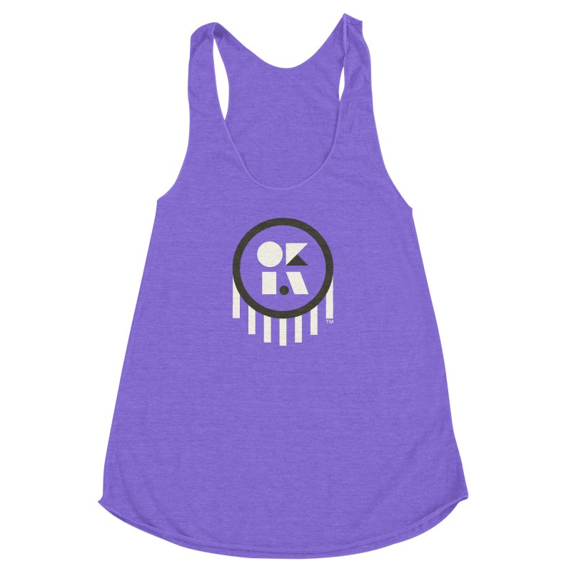 OKLAHOMA SHAPES Women's Racerback Triblend Tank by walkingstickdesign's Artist Shop