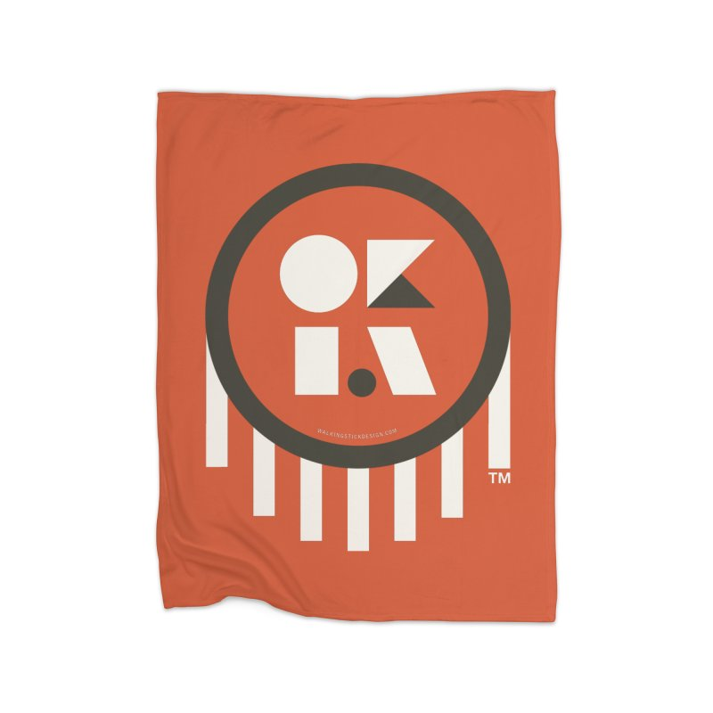 OKLAHOMA SHAPES Home Blanket by walkingstickdesign's Artist Shop