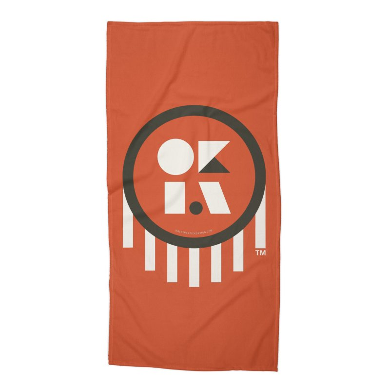 OKLAHOMA SHAPES Accessories Beach Towel by walkingstickdesign's Artist Shop