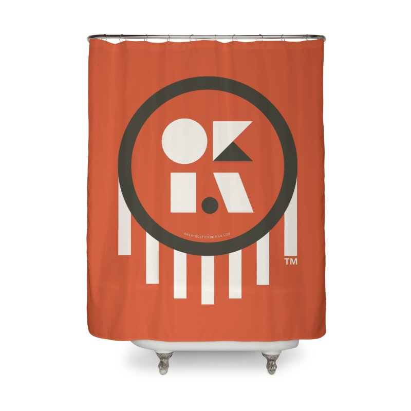 OKLAHOMA SHAPES Home Shower Curtain by walkingstickdesign's Artist Shop