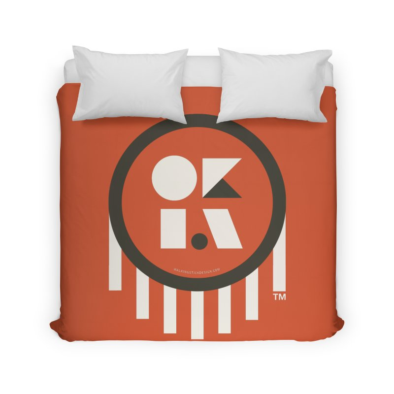 OKLAHOMA SHAPES Home Duvet by walkingstickdesign's Artist Shop