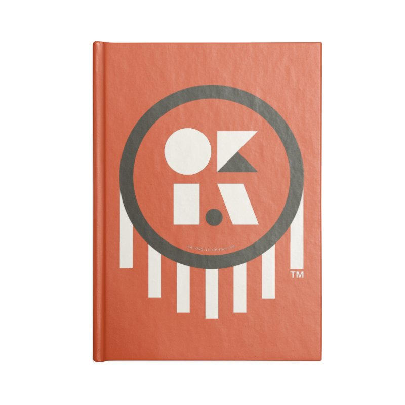 OKLAHOMA SHAPES Accessories Notebook by walkingstickdesign's Artist Shop
