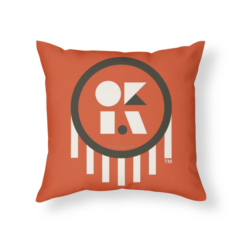 OKLAHOMA SHAPES Home Throw Pillow by walkingstickdesign's Artist Shop
