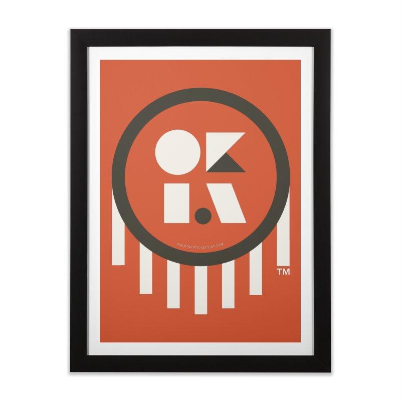 OKLAHOMA SHAPES Home Framed Fine Art Print by walkingstickdesign's Artist Shop