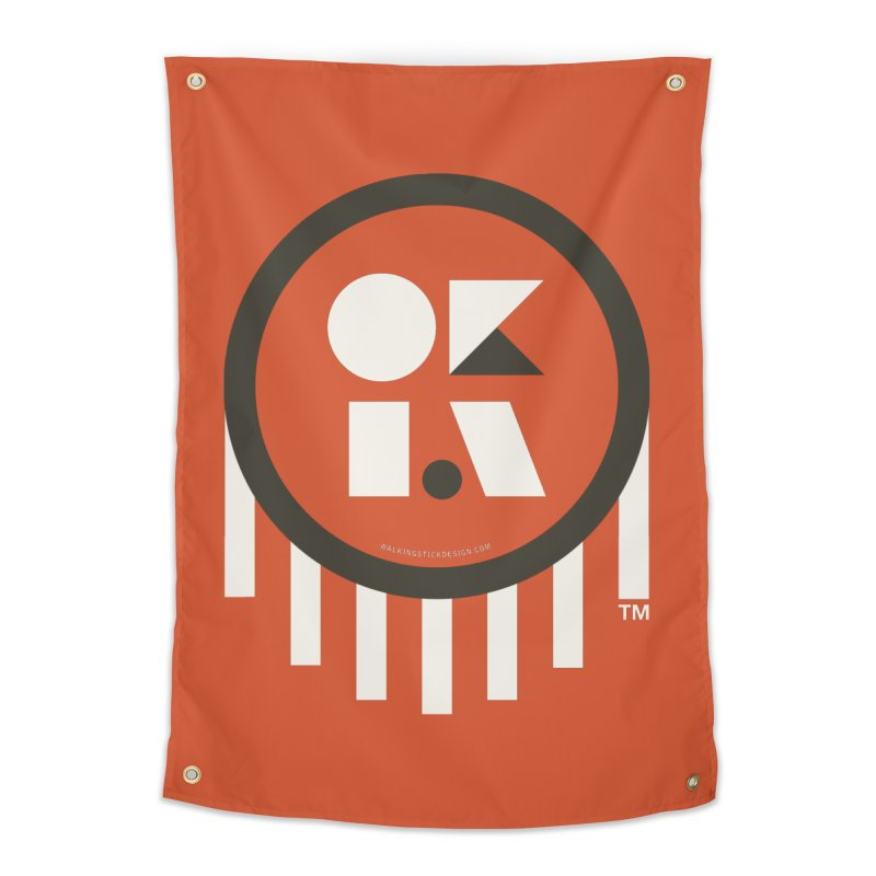 OKLAHOMA SHAPES Home Tapestry by walkingstickdesign's Artist Shop