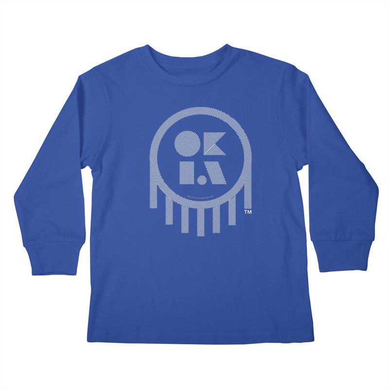 OKLAHOMA LINES Kids Longsleeve T-Shirt by walkingstickdesign's Artist Shop