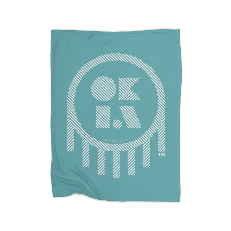 OKLAHOMA LINES Home Blanket by walkingstickdesign's Artist Shop