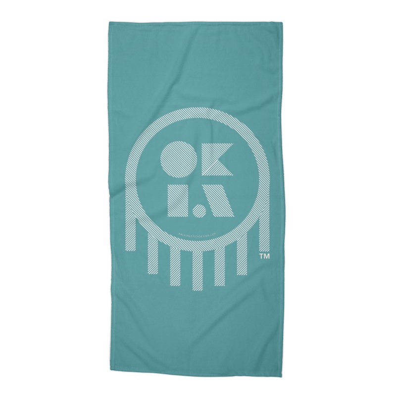 OKLAHOMA LINES Accessories Beach Towel by walkingstickdesign's Artist Shop