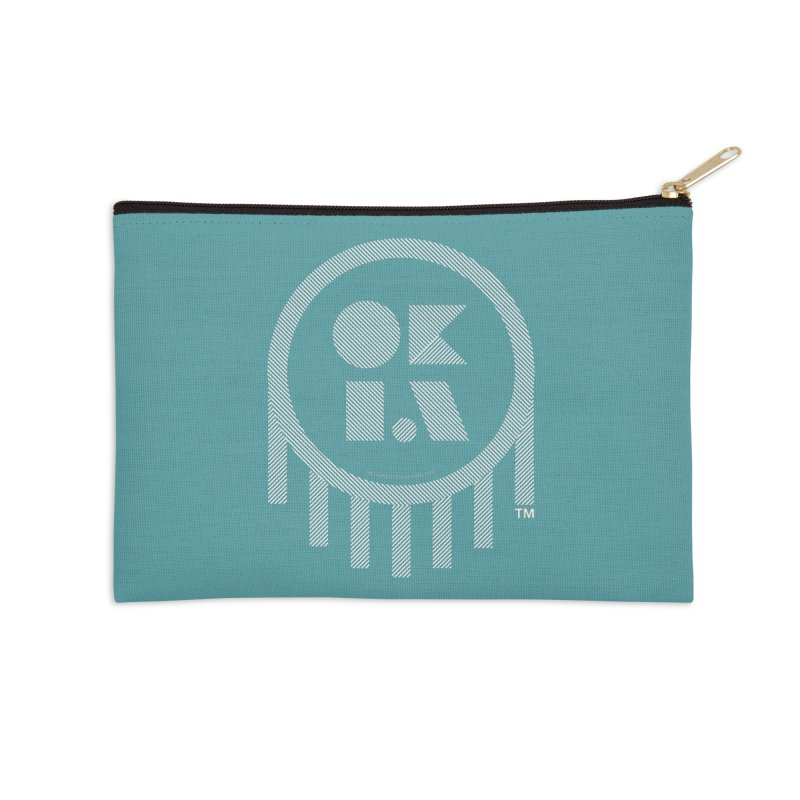 OKLAHOMA LINES Accessories Zip Pouch by walkingstickdesign's Artist Shop