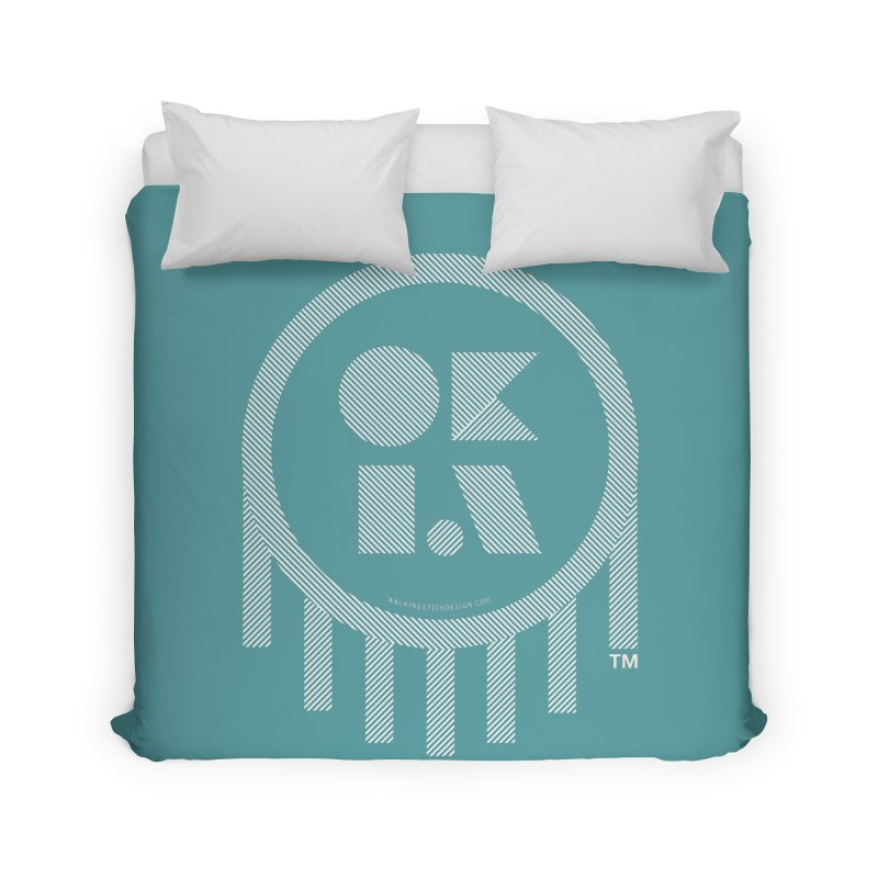 OKLAHOMA LINES Home Duvet by walkingstickdesign's Artist Shop