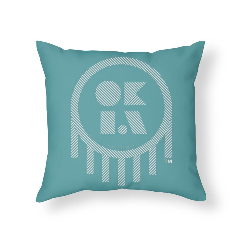 OKLAHOMA LINES Home Throw Pillow by walkingstickdesign's Artist Shop