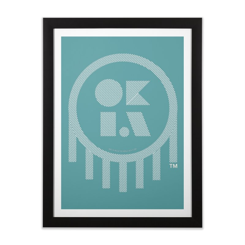 OKLAHOMA LINES Home Framed Fine Art Print by walkingstickdesign's Artist Shop