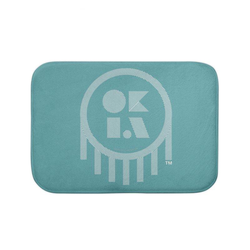 OKLAHOMA LINES Home Bath Mat by walkingstickdesign's Artist Shop