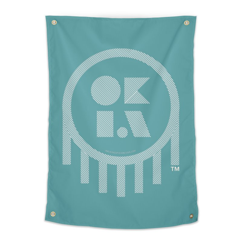 OKLAHOMA LINES Home Tapestry by walkingstickdesign's Artist Shop
