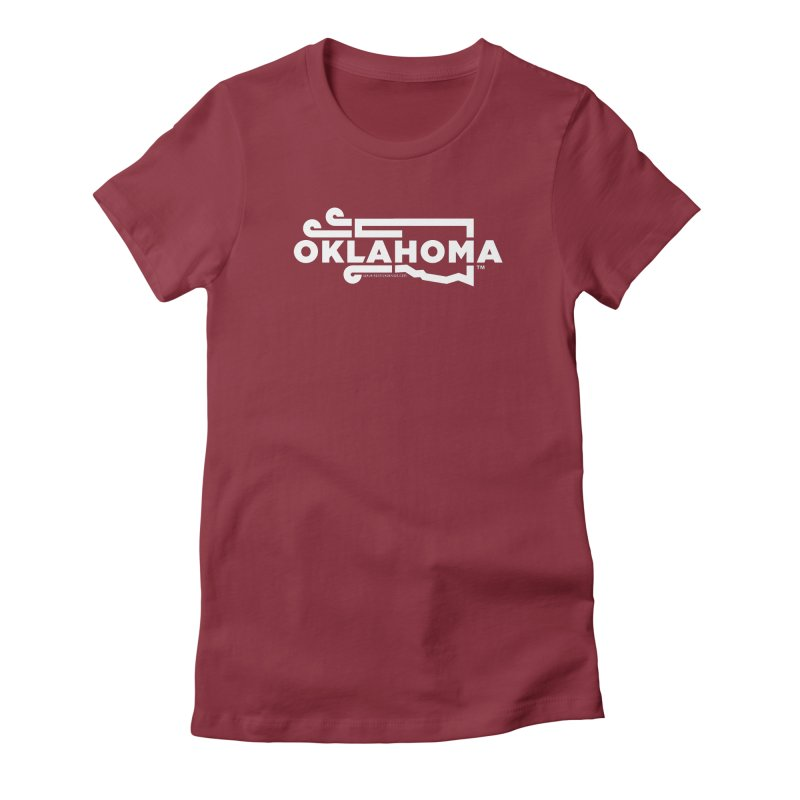 Okie Wind Women's Fitted T-Shirt by walkingstickdesign's Artist Shop