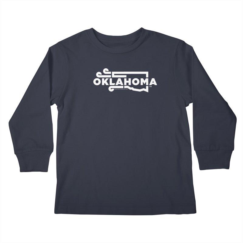 Okie Wind Kids Longsleeve T-Shirt by walkingstickdesign's Artist Shop