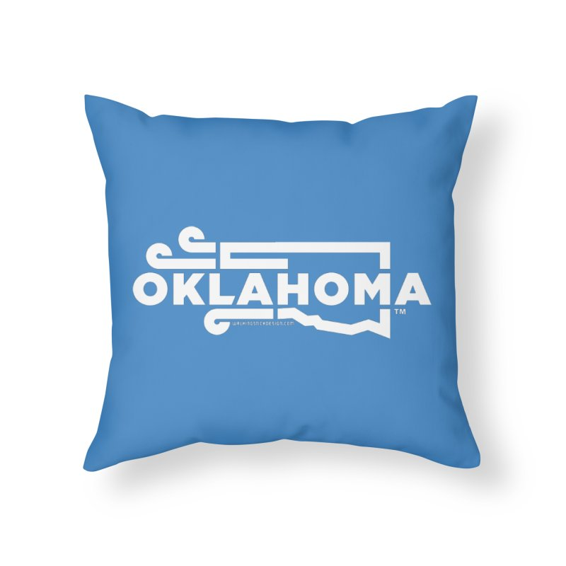 Okie Wind Home Throw Pillow by walkingstickdesign's Artist Shop