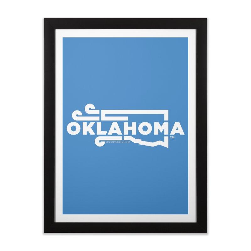 Okie Wind Home Framed Fine Art Print by walkingstickdesign's Artist Shop