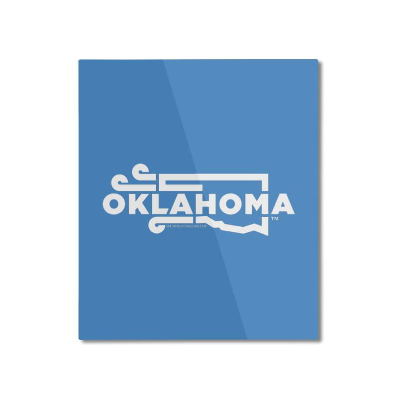 Okie Wind Home Mounted Aluminum Print by walkingstickdesign's Artist Shop
