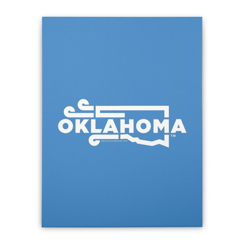 Okie Wind Home Stretched Canvas by walkingstickdesign's Artist Shop