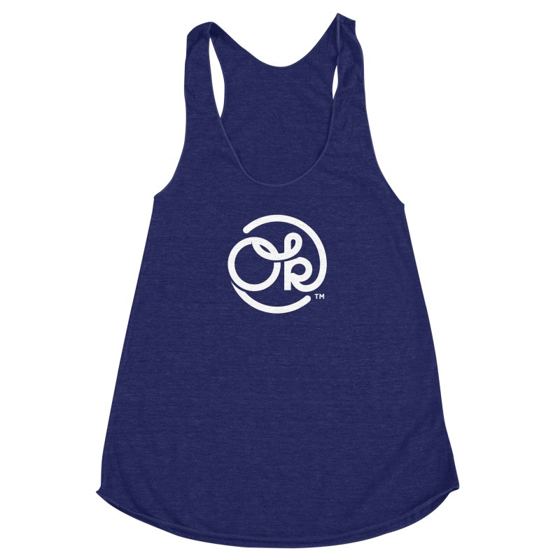OK Circle Women's Racerback Triblend Tank by walkingstickdesign's Artist Shop