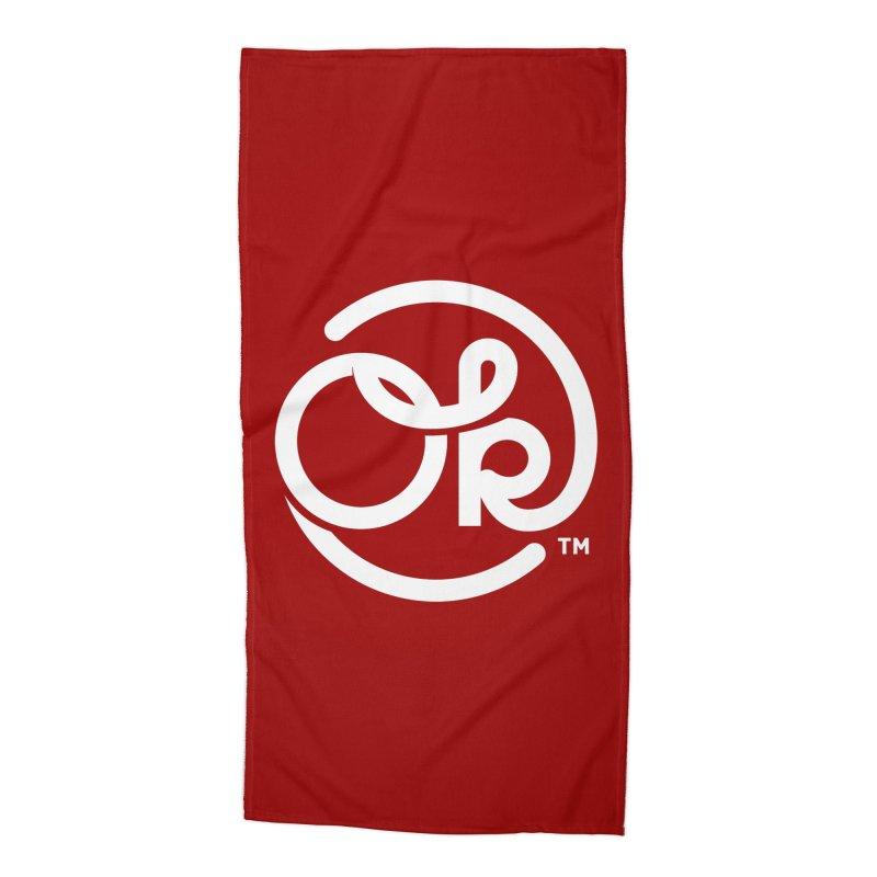 OK Circle Accessories Beach Towel by walkingstickdesign's Artist Shop